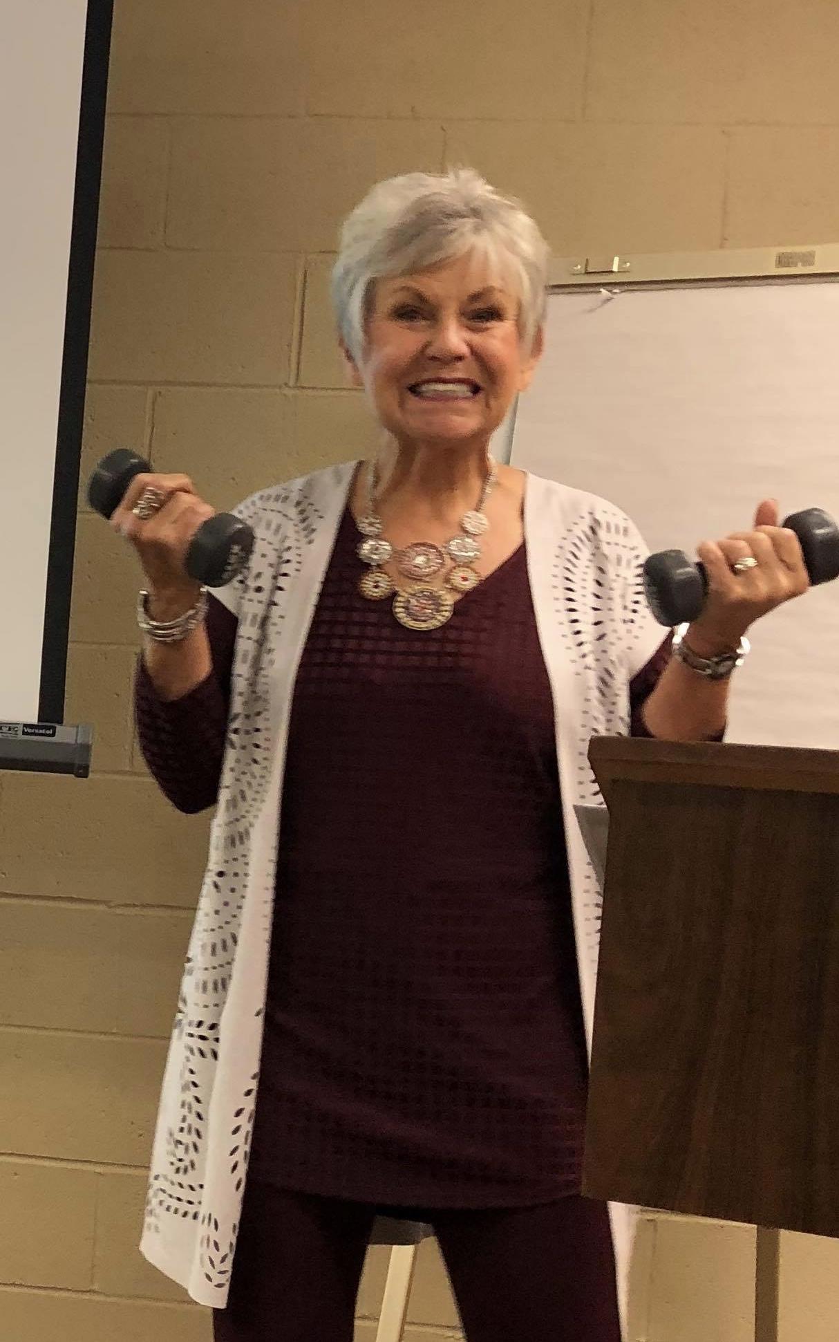 Ruth with weights Cyndi's